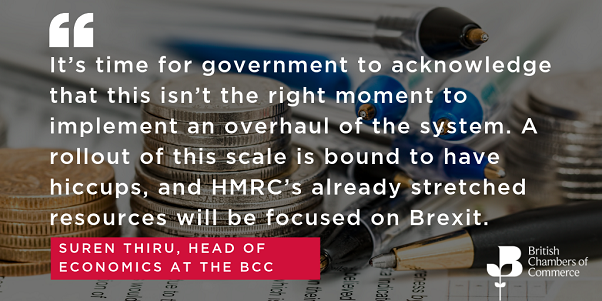 BCC research highlights need to delay Making Tax Digital