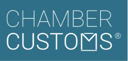 Chamber Customs stacked white and turquoise RegisteredTrademark_rgb