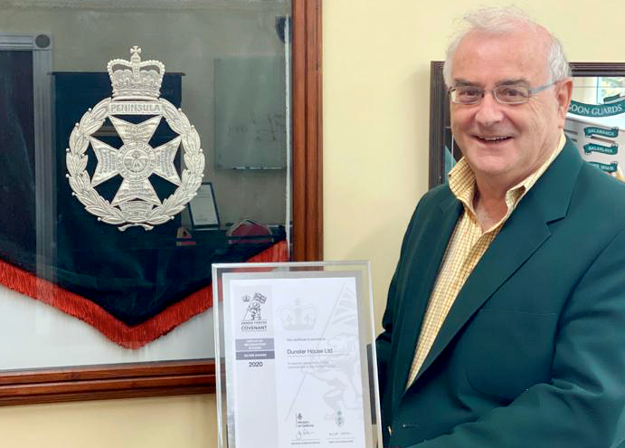 Dunster House awarded for its support to former Defence and Armed Forces