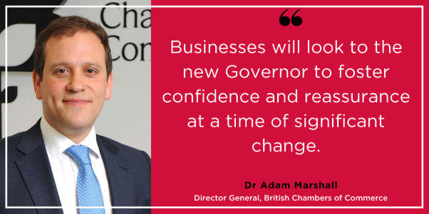 BCCcomments on appointment of new Bank of England Governor