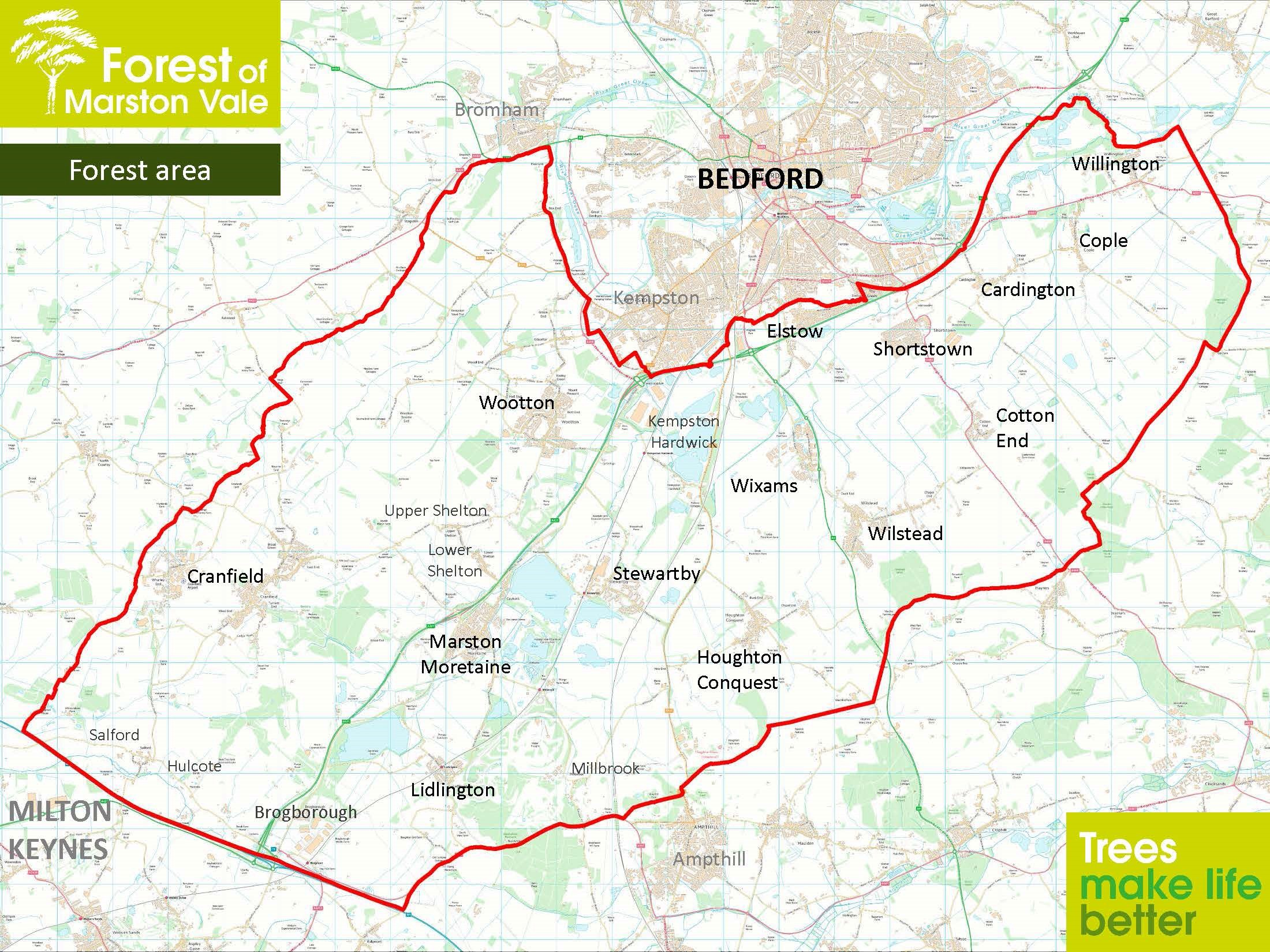 Major new funding for woodland planting in the Marston Vale, Bedfordshire